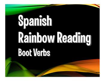 Spanish Boot Verb Rainbow Reading