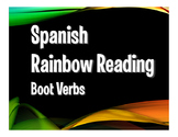 Spanish Boot Verb Rainbow Reading
