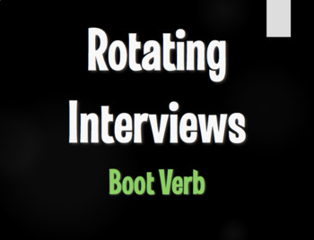 Spanish Boot Verb Rotating Interviews
