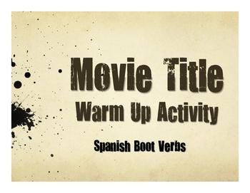 Spanish Boot Verb Movie Titles