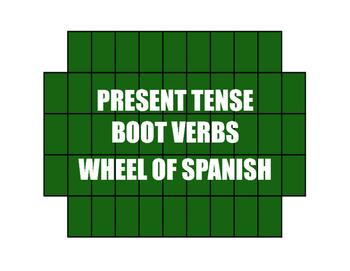 Spanish Boot Verb Wheel of Spanish