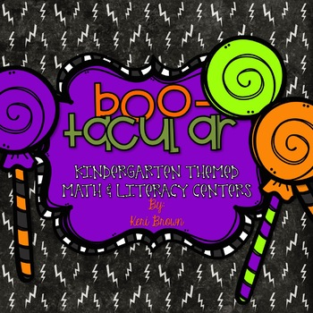 Bootacular - Halloween and Fall themed literacy and math centers