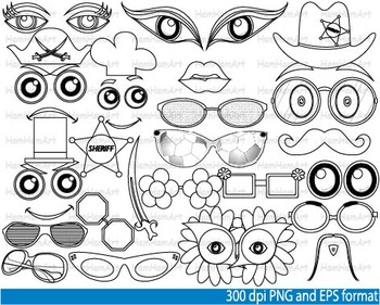 Booth props drawing School Clip Art images holiday party s