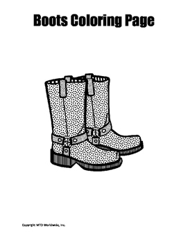 Boots Coloring Page