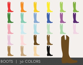Boots Digital Clipart, Boots Graphics, Boots PNG, Rainbow Boots Digital Files