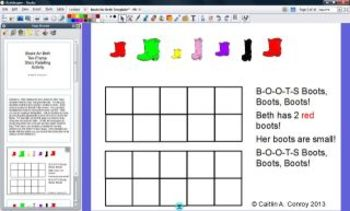 Boots for Beth Ten-Frame Story Retelling Activity