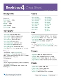 Bootstrap 4 Classes Cheat Sheet PDF - Responsive Web Desig