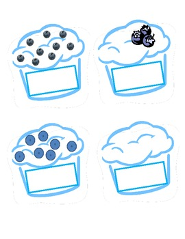 Bopping Blueberry Muffins Flash Card Activity Set