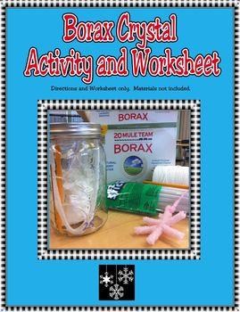 Borax Crystal Activity and Worksheet