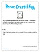 Borax Crystal Egg Experiment Data Sheets