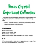 Borax Crystal Experiment Data Sheet Collection