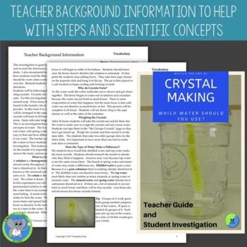 STEAM Lab:  Borax Crystal Lab:  3 Grade Level Bundle