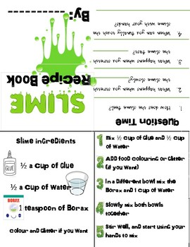 photo regarding Slime Recipe Printable titled Slime Recipe Worksheets Schooling Elements Instructors Shell out
