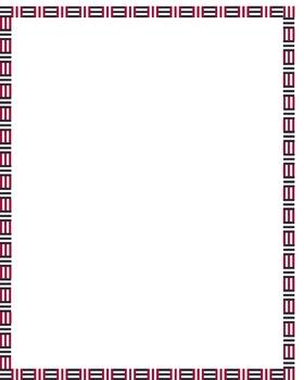 Border- Abstract Alternating Lines
