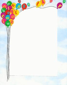 Border - Alphabet Balloons