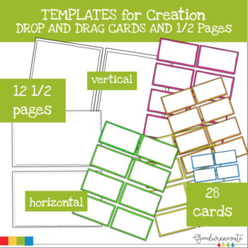 Border Cards and 1/2 Pages Templates Drop, Drag and Create