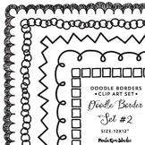 Square Doodle Borders Set #2