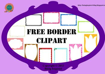 Border Clipart Freebie by Being Inspired | Teachers Pay ...