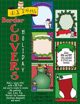 Border Covers Holiday - Binder Covers Download