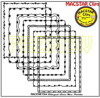 Border Frames Clipart Set 2 MACSTAR Clip Art