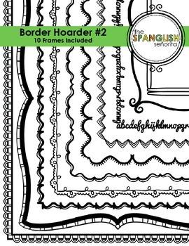 Border Hoarder #2 {Digital Clip Art for Commercial Use}