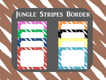 Border: Jungle Stripes