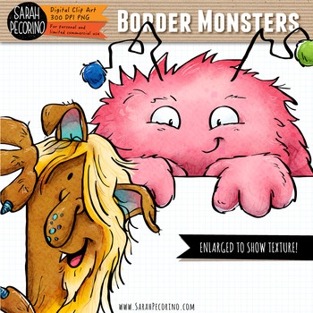 Border Monsters Clip Art