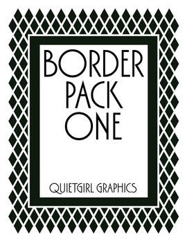 Border Pack One - Diamond Love Border Clip Art