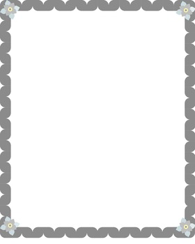 Border Package- Gray Ribbon with Flower Corners