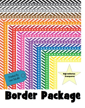 Border- Dots and Stripes Frames Package
