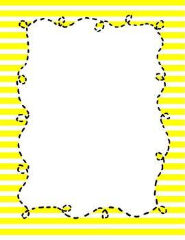 Border Paper {Yellow Doodle Bee Design}