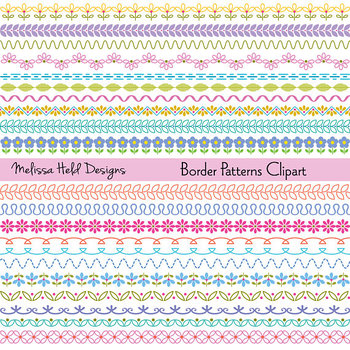 Decorative Border Patterns Clipart