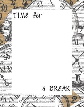 Border - Time for a Break