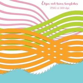 Border clipart, braided border clipart