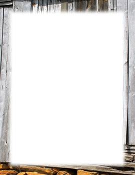 Border-rustic barn facade