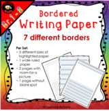 Bordered Writing Papers