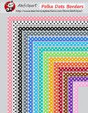 Borders-14 Polka Dots clipart