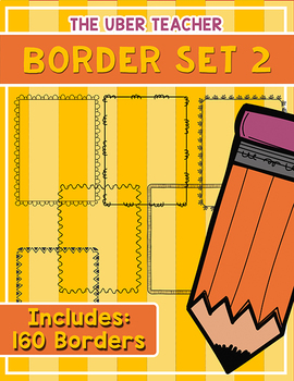 Borders set 2 - 160 Unique Page Borders {For TPT Sellers}