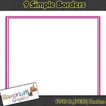 Free Borders, 9 thin double lined