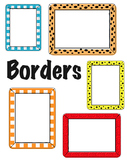 Editable Borders - pick your color or fill in pattern