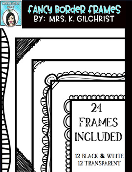 Black and White Fancy Borders Frames
