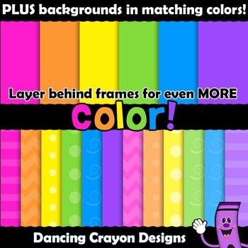 Borders - 250 Colorful Frames - Clip Art BUNDLE