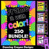 Clip Art Borders - 250 Colorful Frames BUNDLE