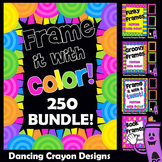 Borders - 250 Colorful Frames - Clip Art BUNDLE