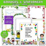 Borders 53 Editable School Home Play Pages (Karen's Kids P
