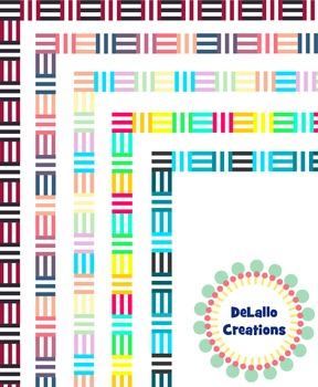 Border- Abstract Lines Seasons Package