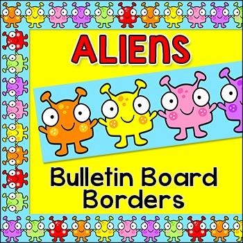 Bulletin Board Borders - Alien Theme