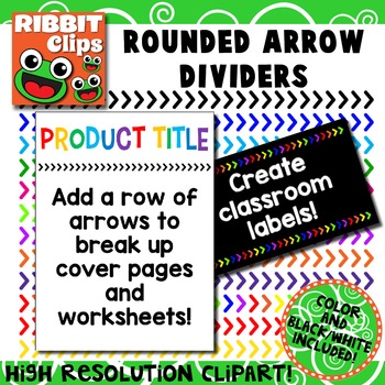 Borders- Arrows Clipart (Rounded Ends)