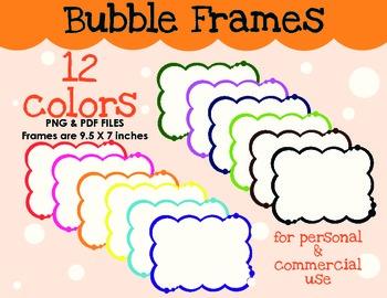 borders bubble frames by oodles for little noodles tpt