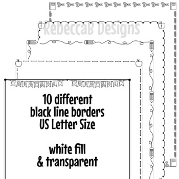 Back to School Borders Clip Art